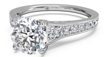Ritani Tapered Diamond Band Engagement Ring