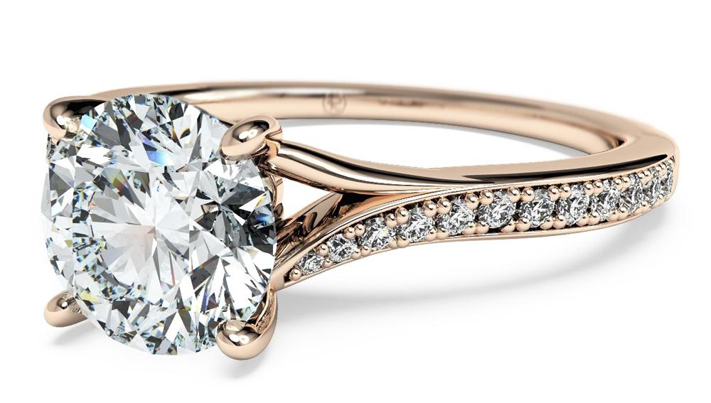ritani rose gold engagement ring - Ritani Wedding Rings
