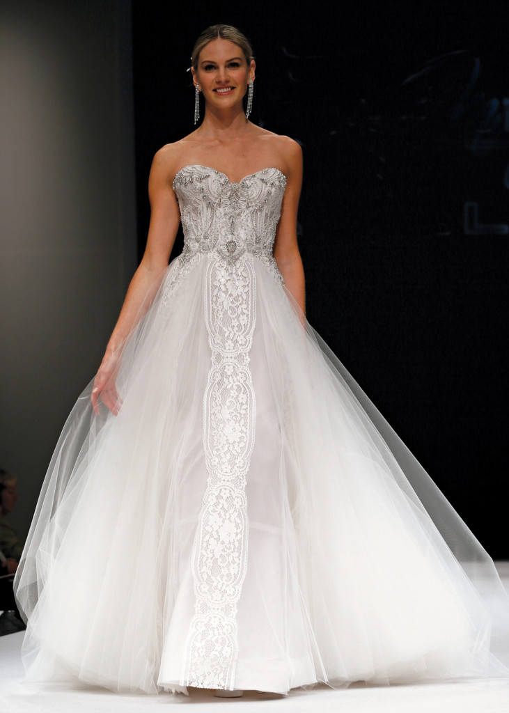 Eve of Milady Glamorous Strapless Ballgown Wedding Dress