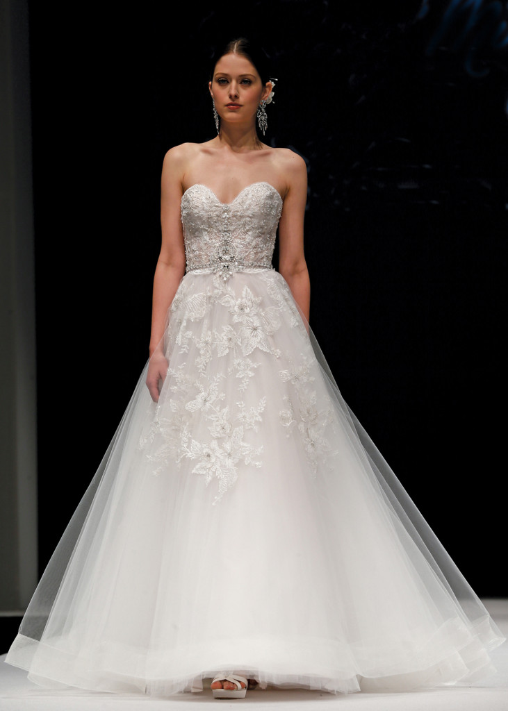 Eve of milady classic ballgown strapless wedding dress for Wedding dress preservation nyc
