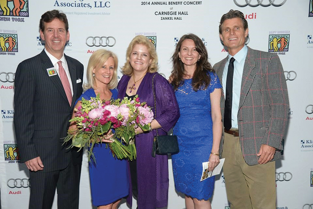 At the Carnegie Hall Benefit Concert. Gerry and Penney Klingman, event chair, Lisa D'Urso, Kelley Faulkner, and founder Anthony Kennedy Shriver.