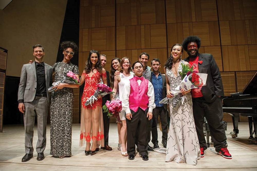 At Carnegie Hall, the performers take a bow.