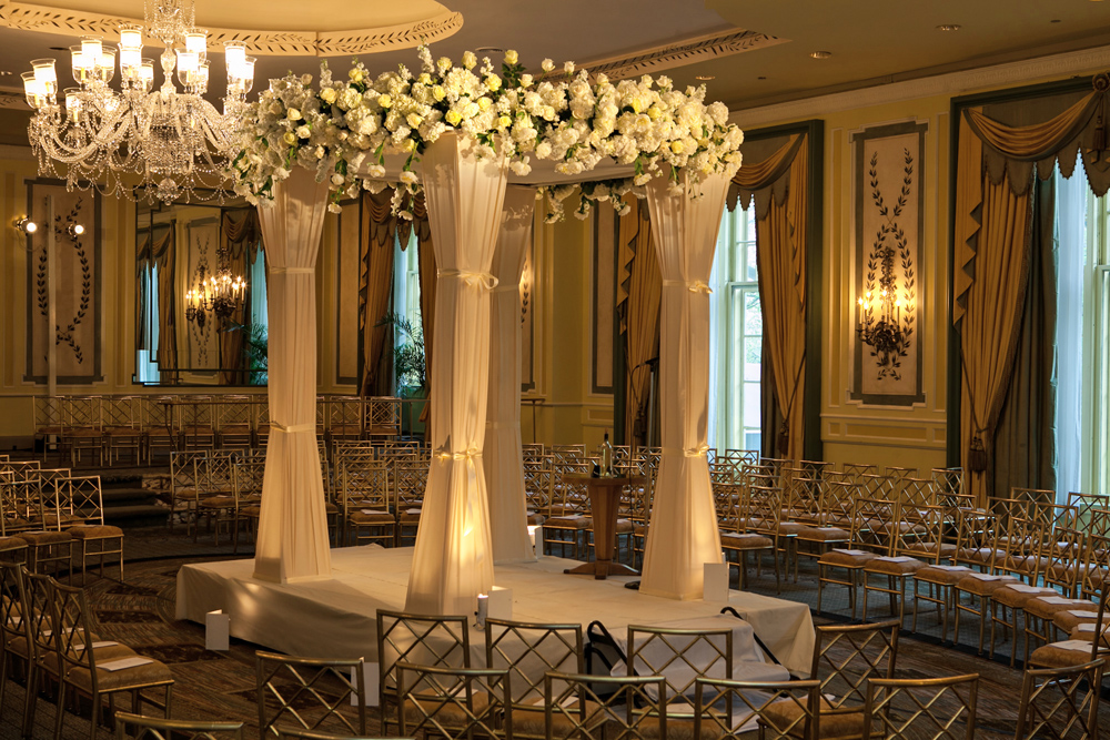 Ariston Flowers, classic chuppah