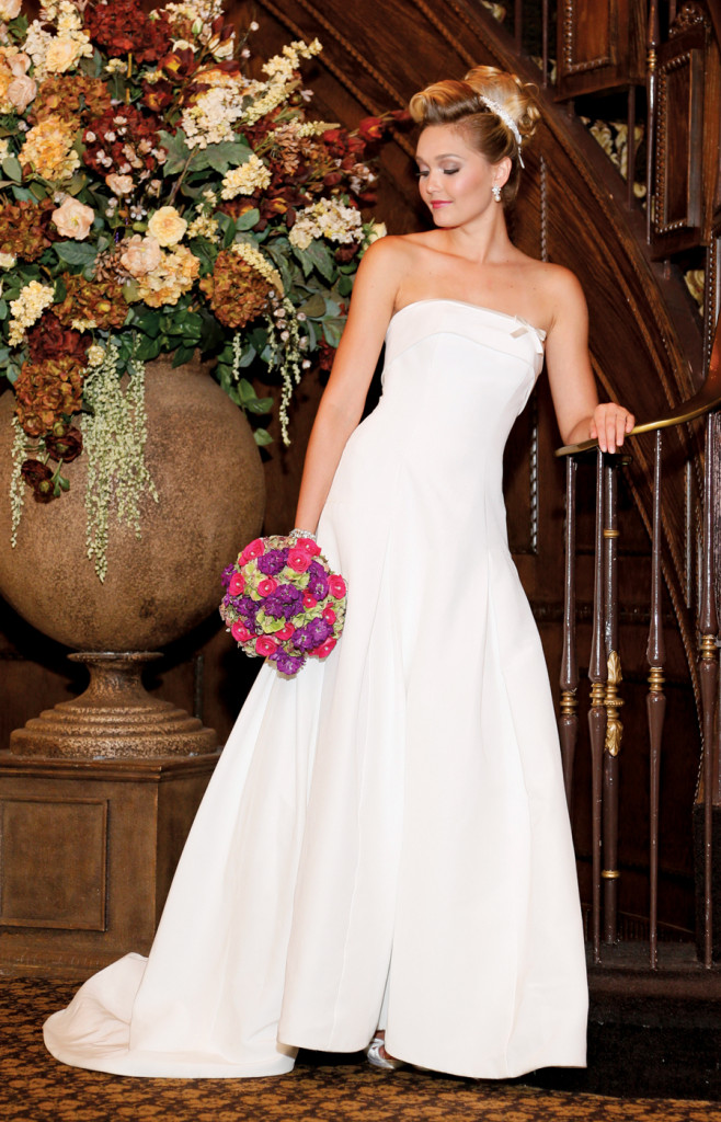 Gown: The Steven Birnbaum Collection (Eloise, $3,200)
