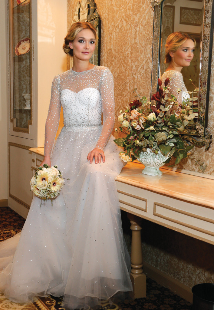Gown: Lucia Rodriguez (LW7000, $9,000)