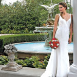 Gown: Robert Bullock Bride at Steven Birnbaum Bridal (River, $1,875)