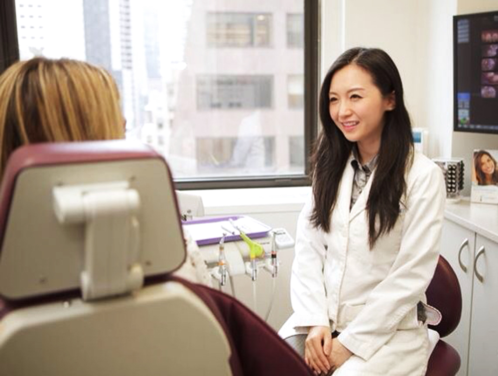 Dental Serenity, Dr. Chang with patient