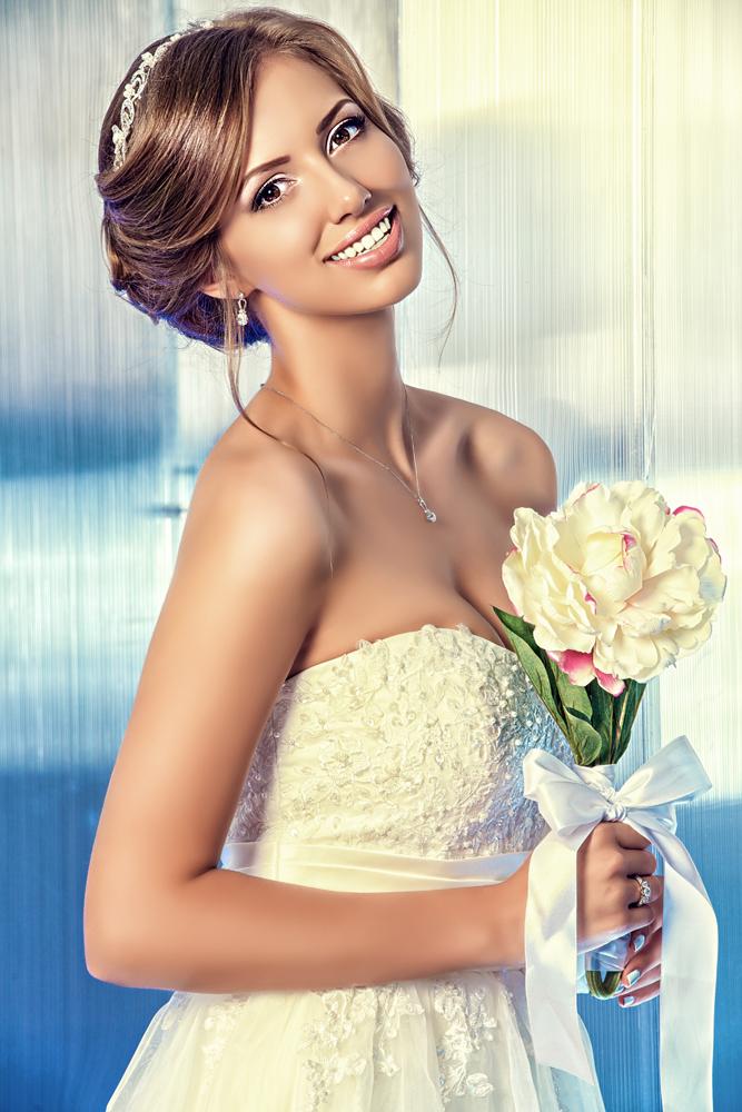 Dental Serenity, outdoor bride