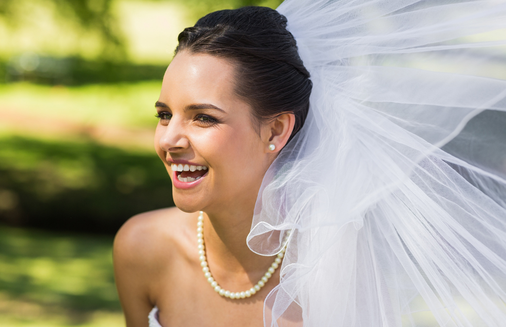 Dental Serenity, bride in park