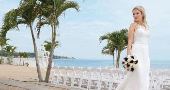 Gown: Oleg Cassini at David's Bridal (CWG716, $1,150)