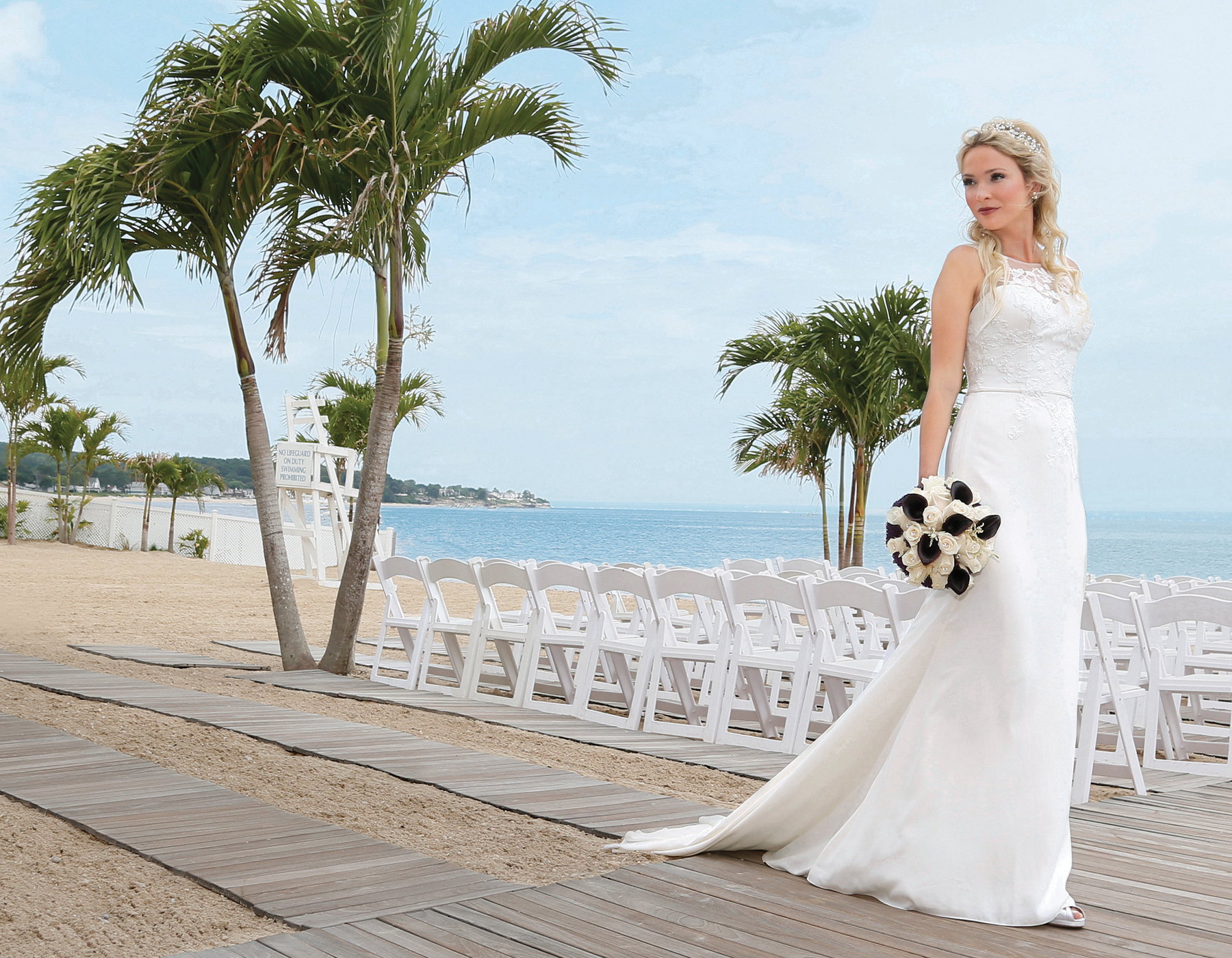 Bridal Gowns At The Crescent Beach Club In New York