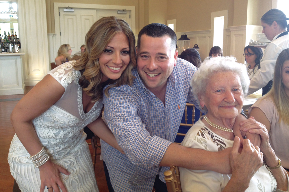 Larissa, Mike, and her Grandmother; Bridal Shower at Ryland inn