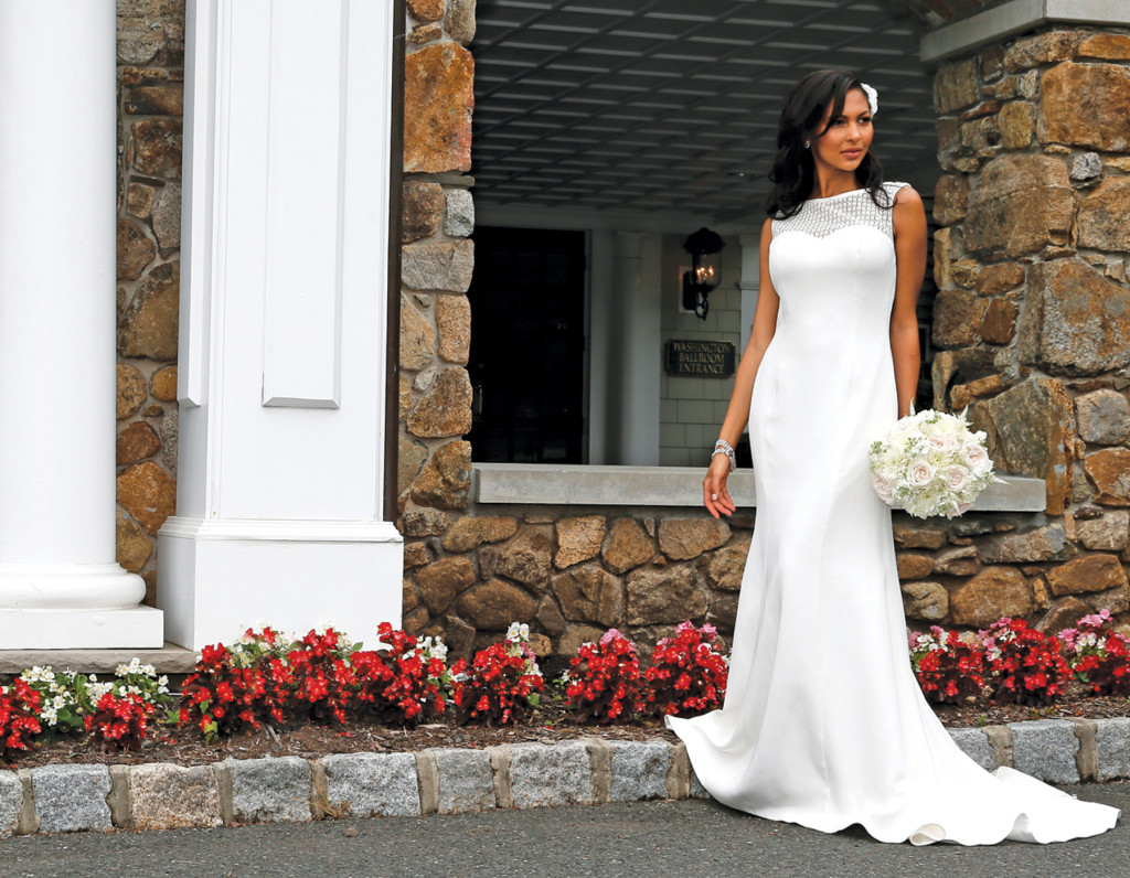 Gown: The Steven Birnbaum Collection (Pearl, $2,700). Bouquet: KC Events