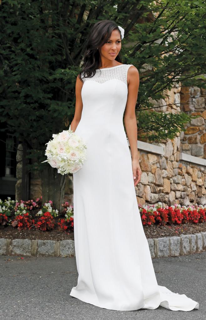 Gown: The Steven Birnbaum Collection (Pearl, $2,700).Bouquet: KC Events