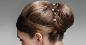 Sterling Hairpins: Formal Hairstyle Featuring Freshwater Pearl Hairpins