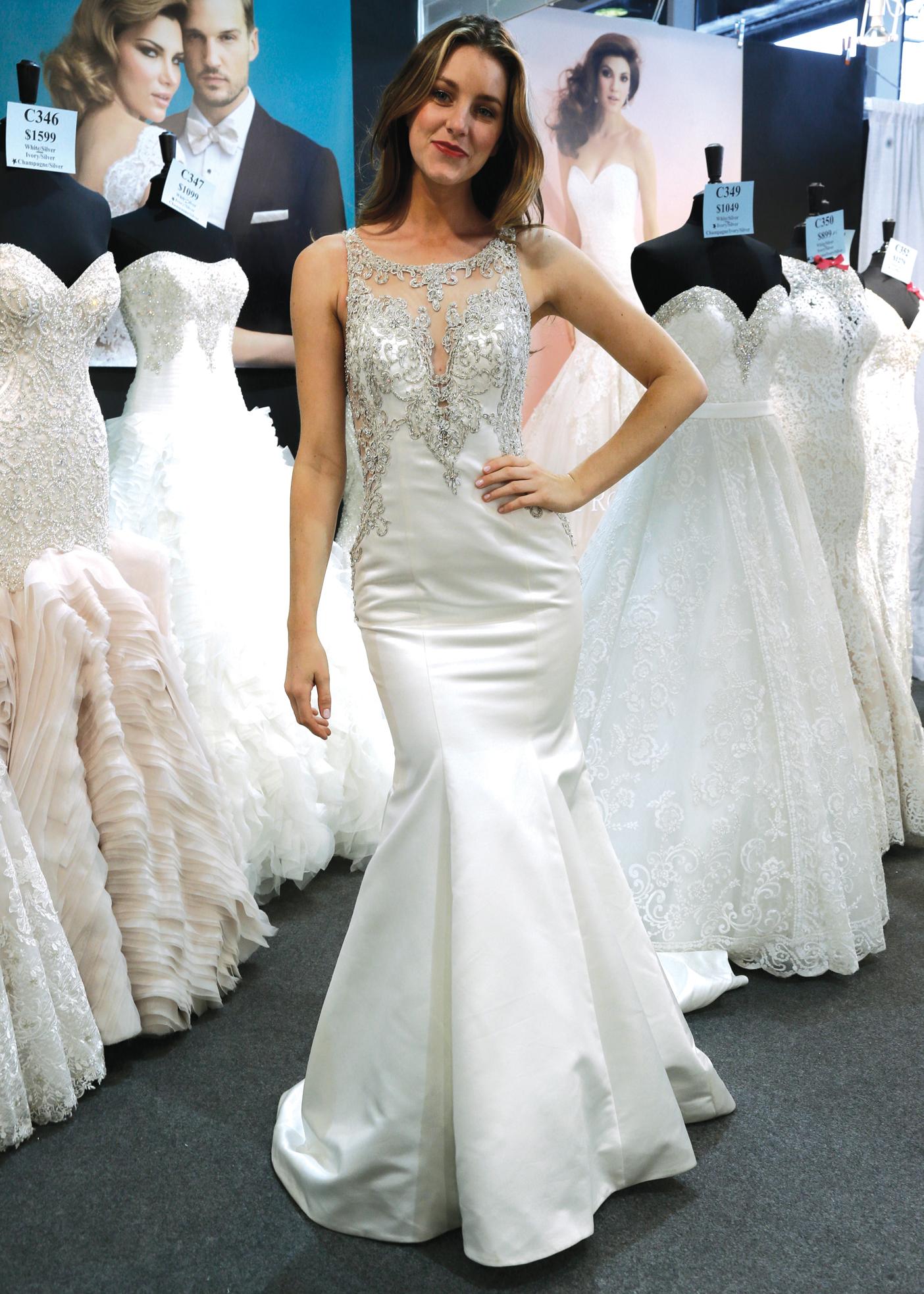 Allure Glamorous Sleeveless Mermaid Wedding Gown