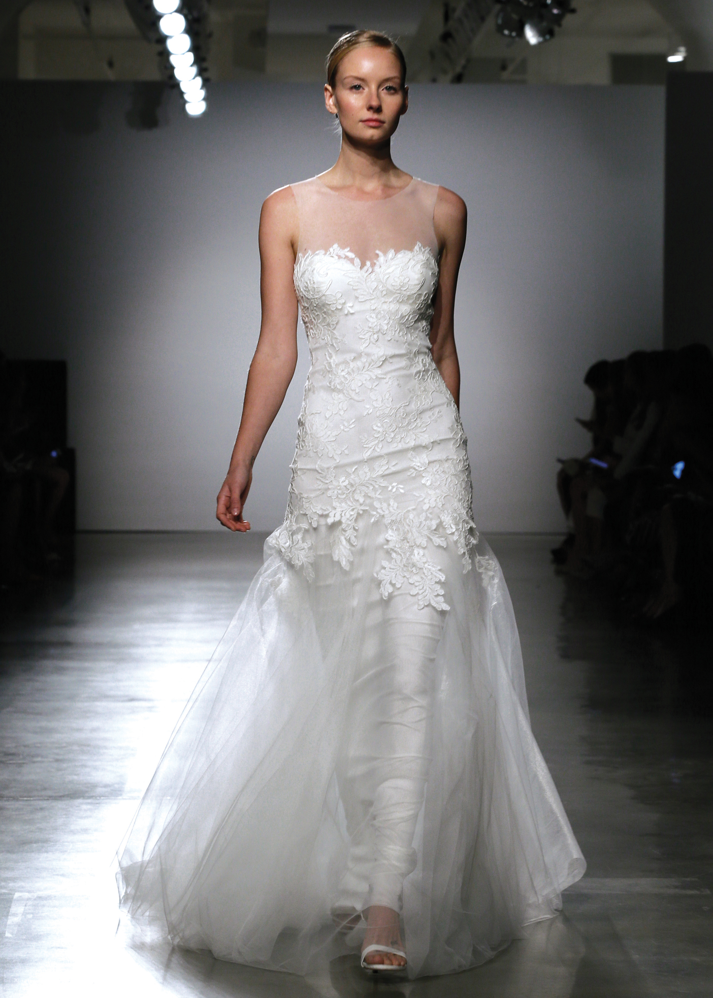 Amsale Avant Garde Sleeveless Fit To Flare Wedding Gown