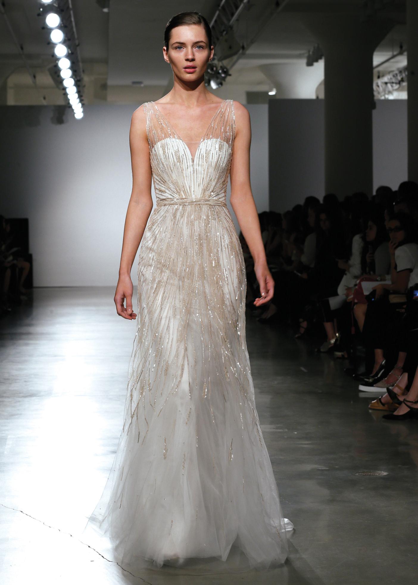 Amsale Avant-Garde Sleeveless A-Line Wedding Gown