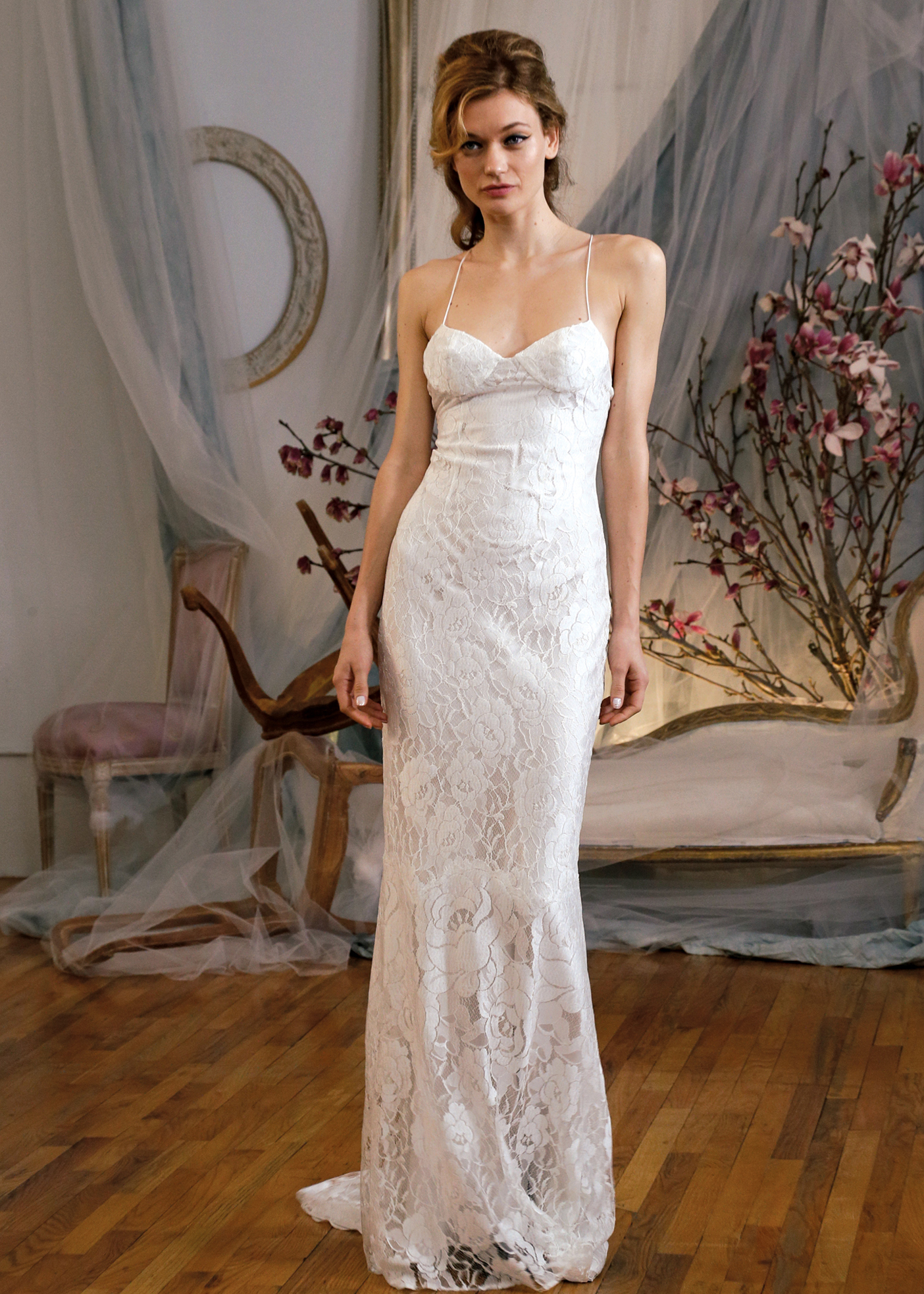 21d679e6838 Elizabeth Fillmore Classic Sheath Wedding Gown