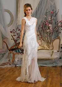 Lace Neckline Wedding Bridal Gowns In Ny Nj Ct