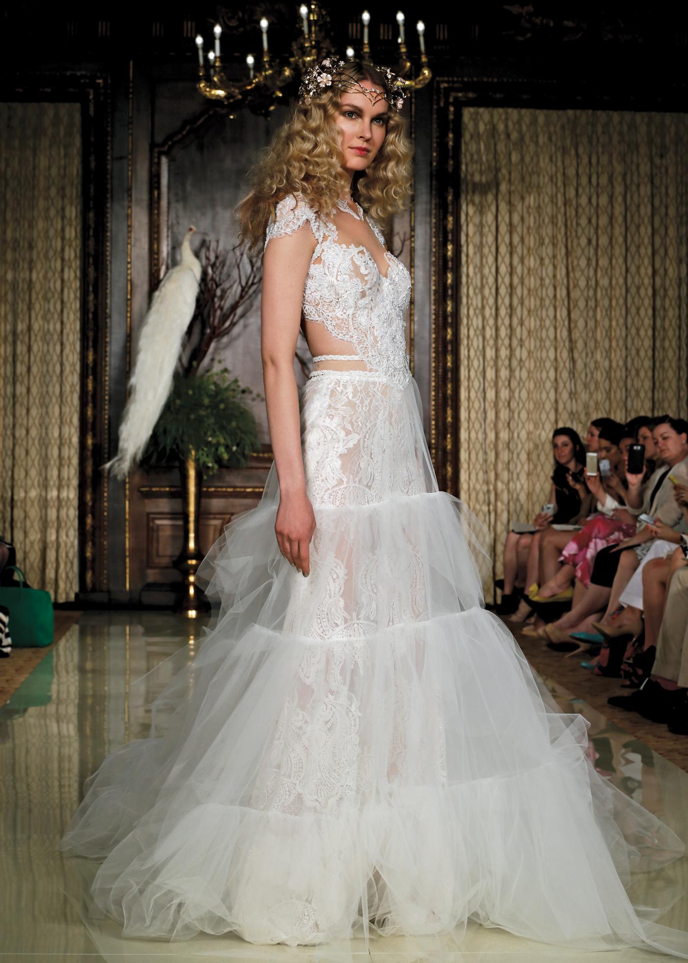 Galia Lahav Avant-Garde Cap Sleeve Ballgown Wedding Dress