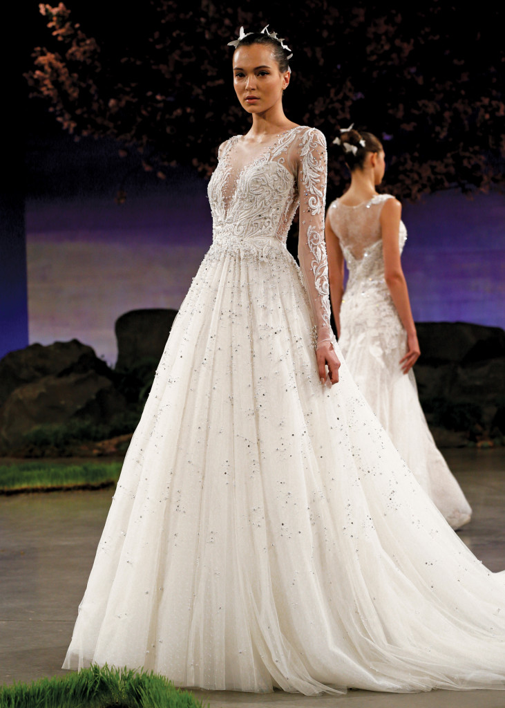 Ines di santo princess long sleeve ballgown wedding dress for Ines di santo wedding dresses prices