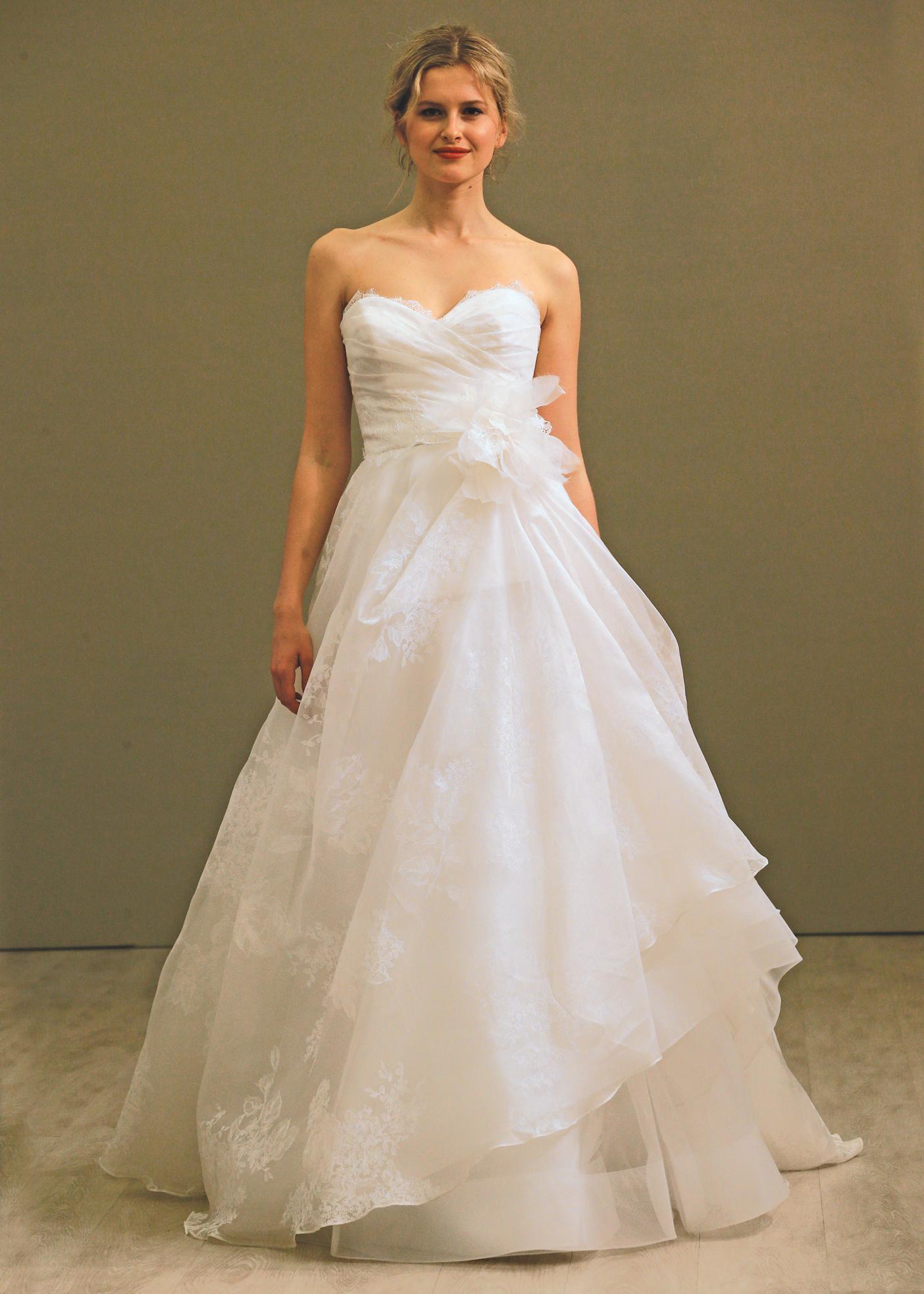 Lazaro Avant-Garde Strapless Ballgown Wedding Dress