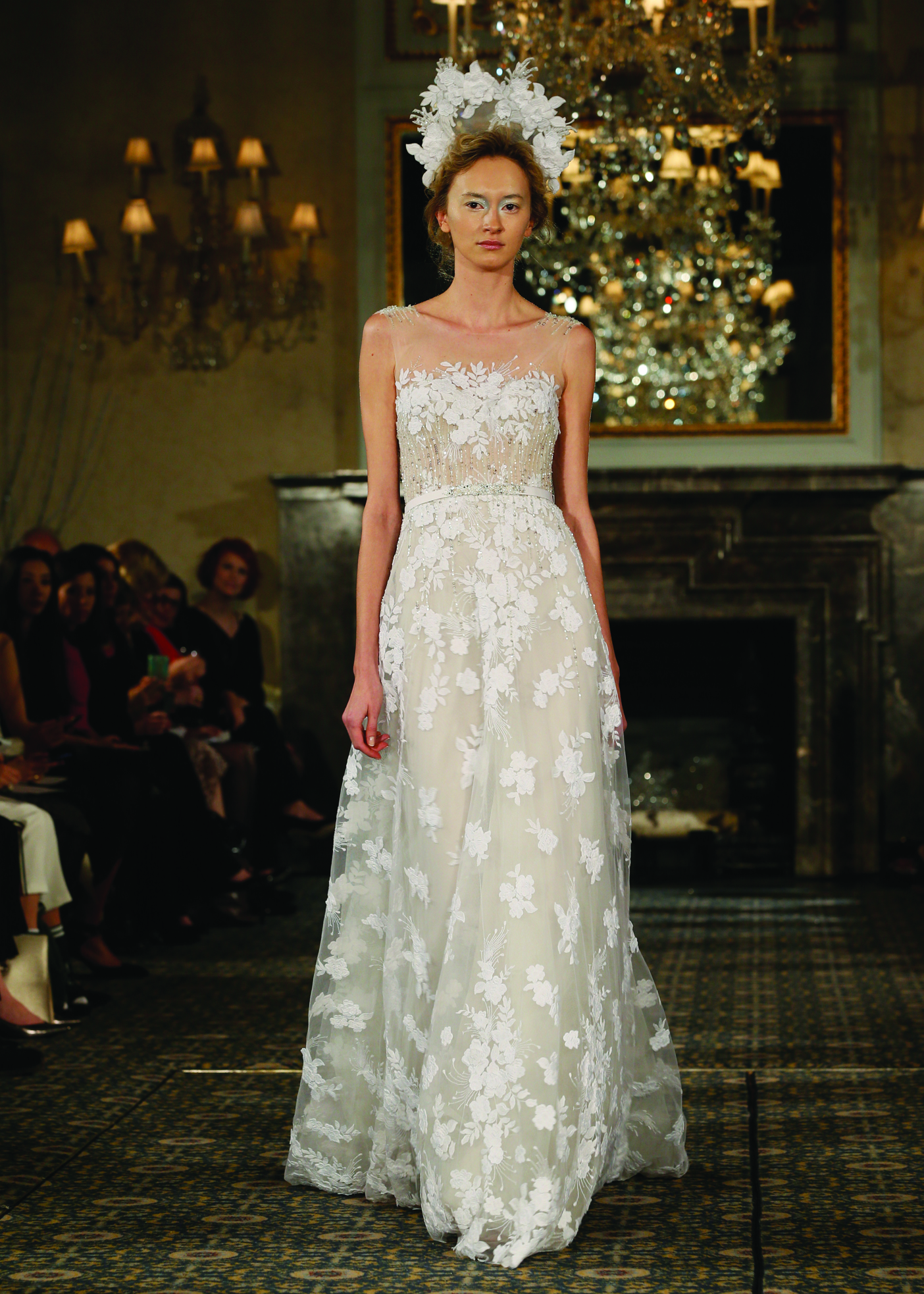 Mira Zwillinger Glamorous Sleeveless A Line Wedding Gown