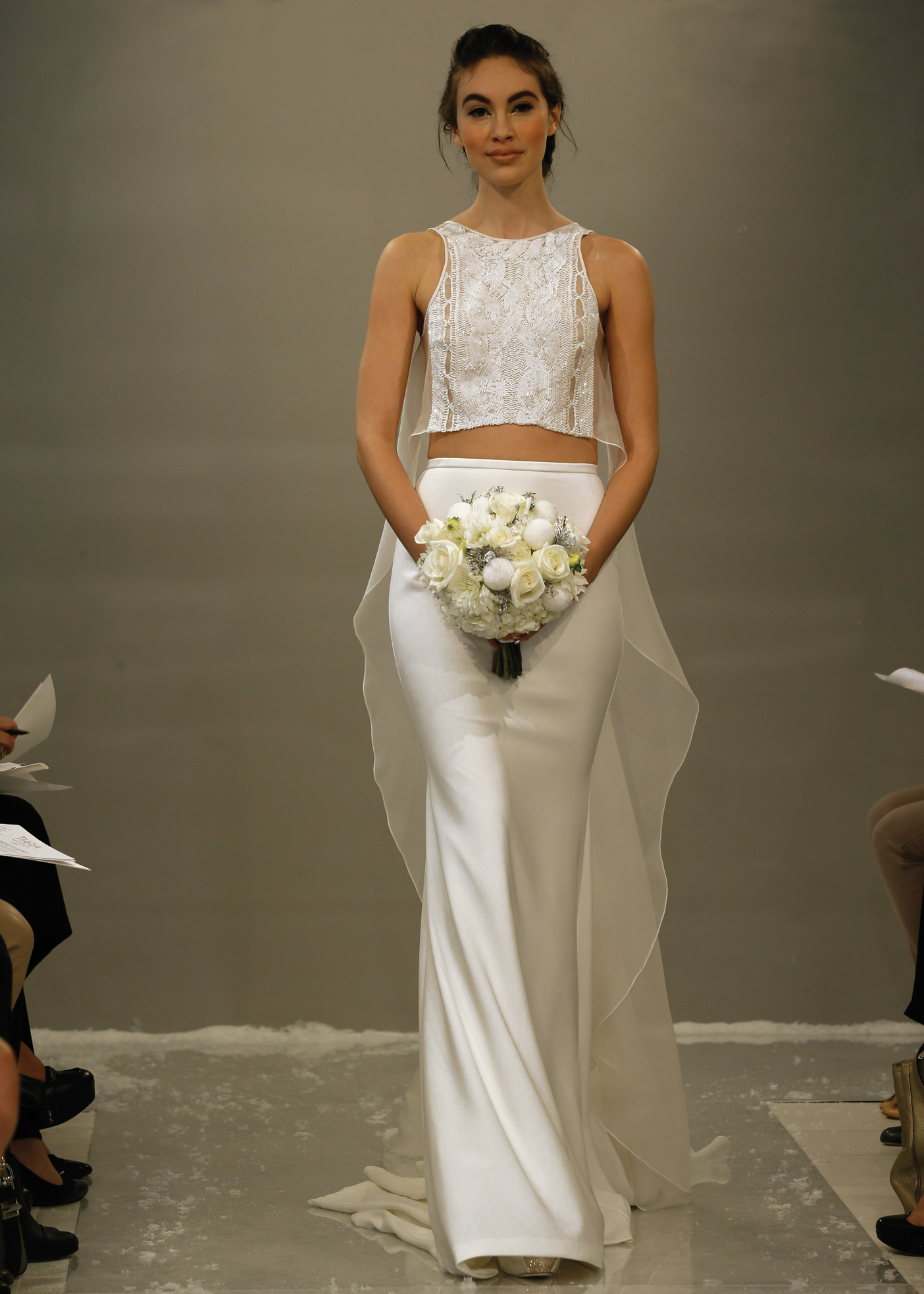 Theia Avant-Garde Two-piece Wedding Outfits in NY and NJ