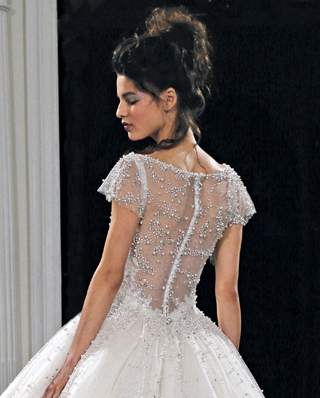 Search for Wedding Gowns with Embellished Back Designs in NY, NJ, CT, PA