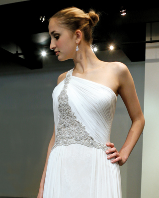 Search for Wedding Gowns with Asymmetrical Necklines in NY, NJ, CT, PA
