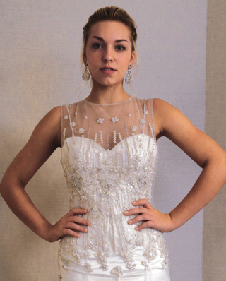 Search for Wedding Gowns with Illusion Necklines in NY, NJ, CT, PA