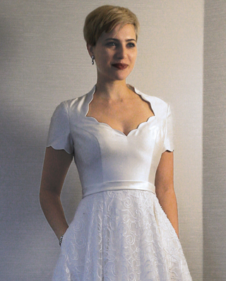 Search for Wedding Gowns with Scalloped Necklines in NY, NJ, CT, PA
