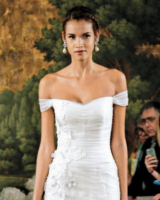 Search for Off-the-Shoulder Wedding Gowns in NY, NJ, CT, PA