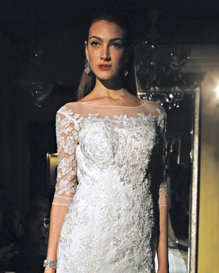 Search for Wedding Gowns with Three-Quarter Sleeves in NY, NJ, CT, PA