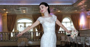 Gown: Lucia Rodriguez, LW2042; Bouquet: Ariston Flowers