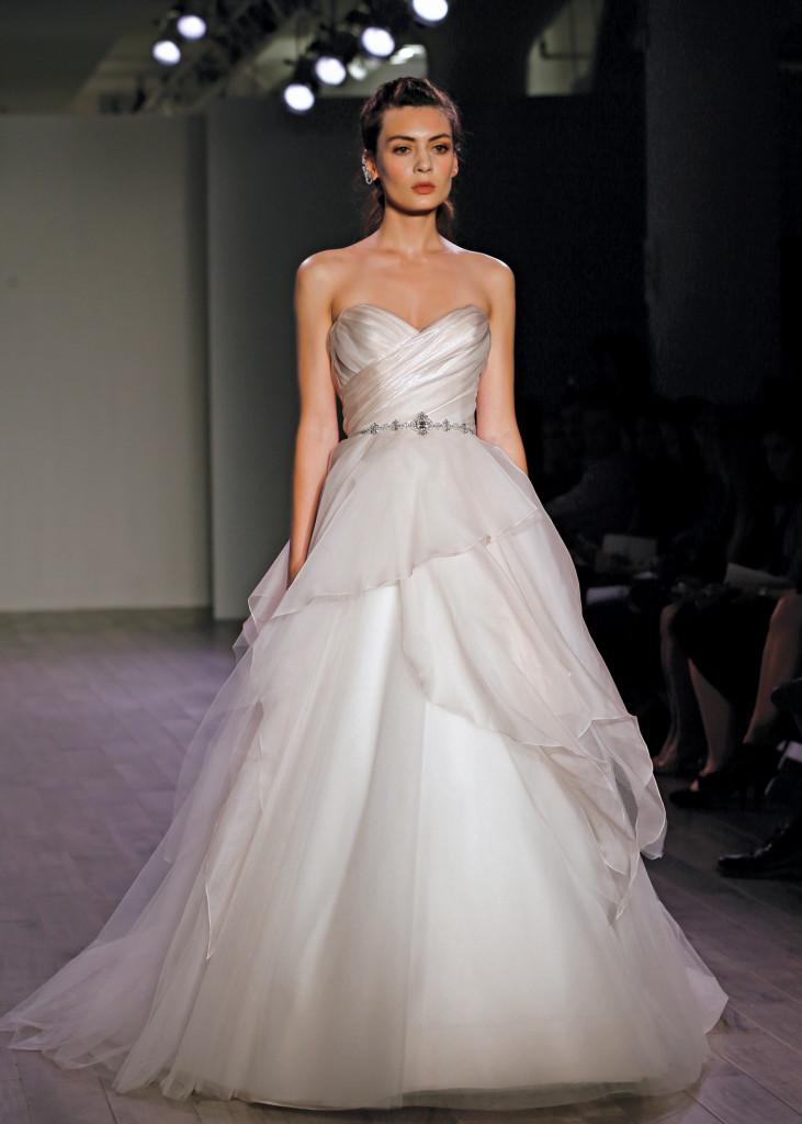 Alvina valenta classic ball gown strapless wedding dress for Wedding dress preservation nyc