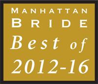 Award Manhattan Bride Best of 2012-2016