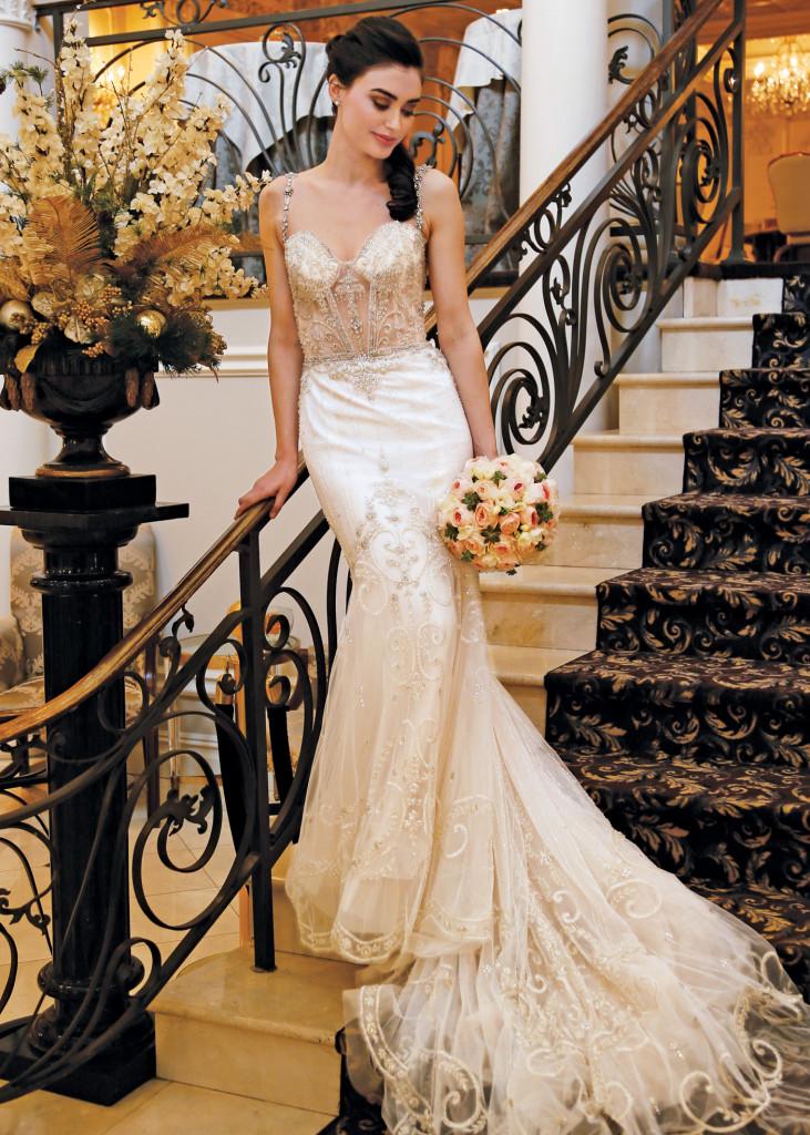 Eve of Milady Glamorous Mermaid Spaghetti-Strap Bridal Gown