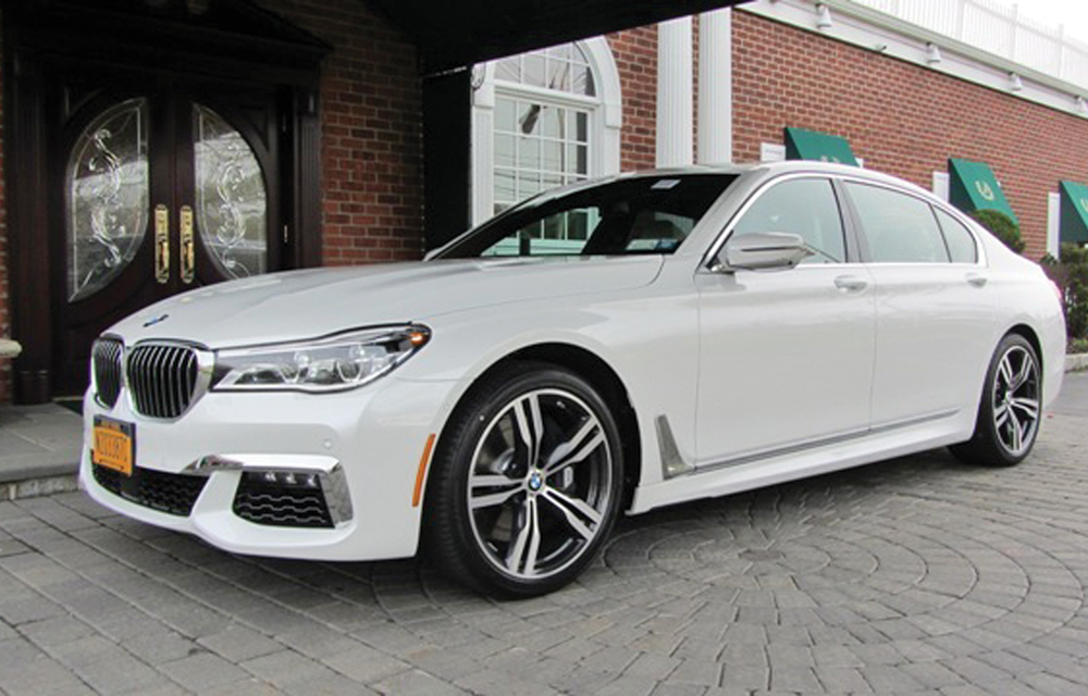 M&V Limousine, 2016 BMW 750 i Ltd Edition with white Napa leather