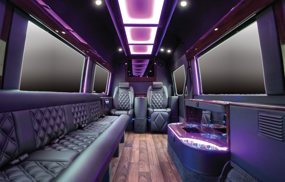 M&V Limousines, VIP Mercedes Sprinter Lounge