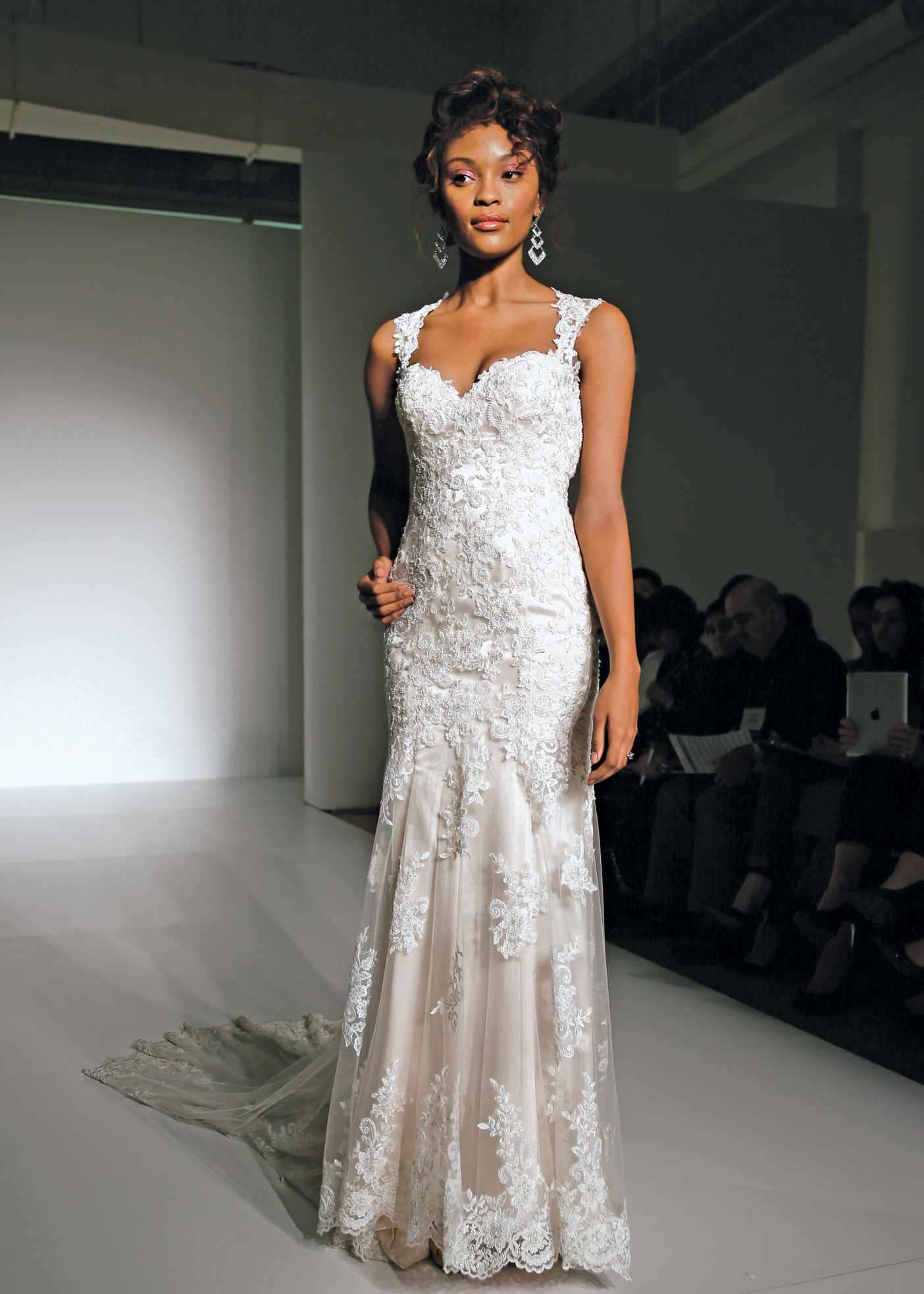 Maggie sottero classic sheath sleeveless wedding gown for Maggie sottero couture wedding dress