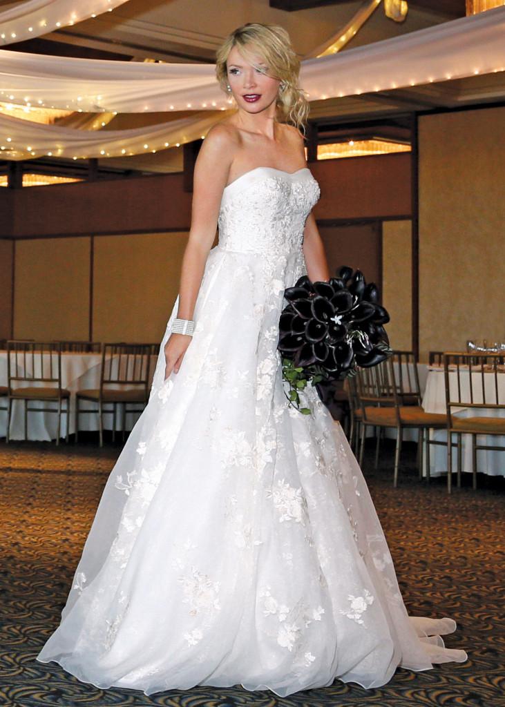 Oleg Cassini Princess Strapless Ballgown Wedding Dress