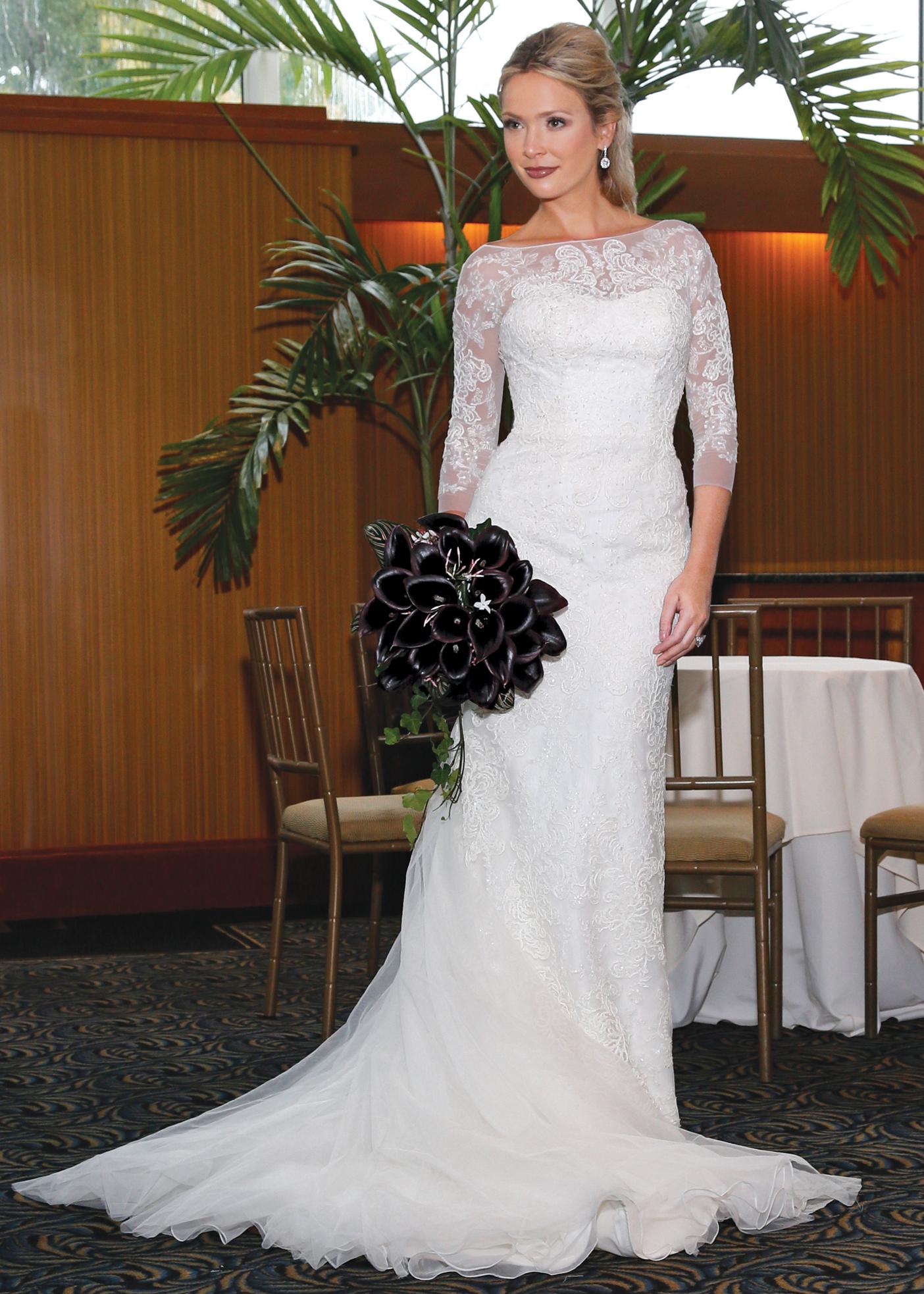 Bridesmaid Dress Oleg Cassini Mermaid Wedding Dress Bow