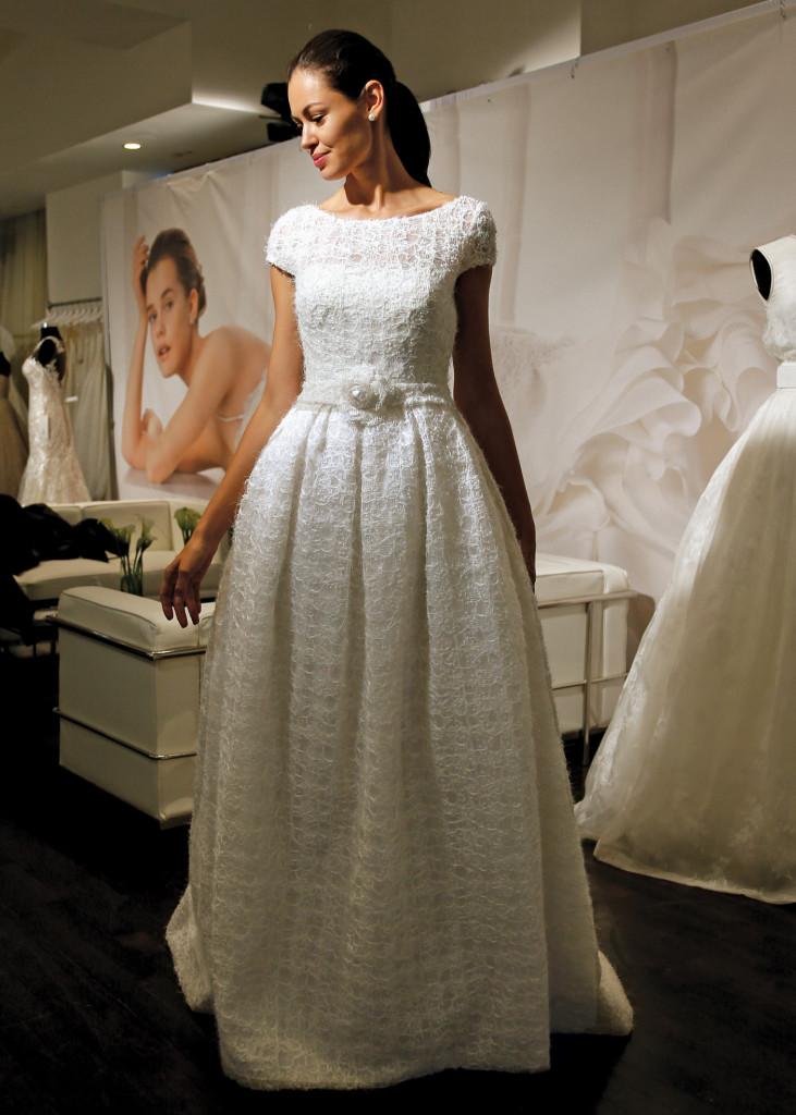 Rosa Clara Avant-Garde Cap Sleeve Ballgown Wedding Dress