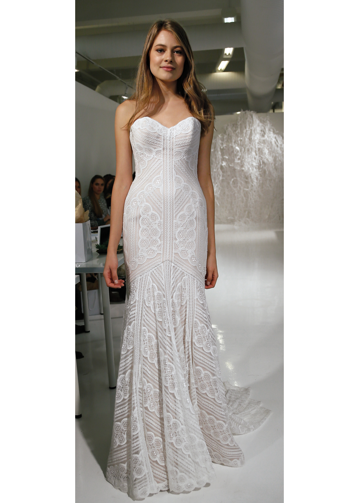 Watters - Wtoo Classic Strapless Trumpet Wedding Gown