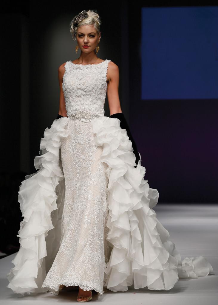 Yumi Katsura Avant-Garde Fit-to-Flare Wedding Gown
