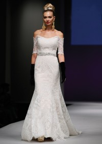 Bridal Wedding Gowns NY, NJ - Three-Quarter Sleeve Dresses