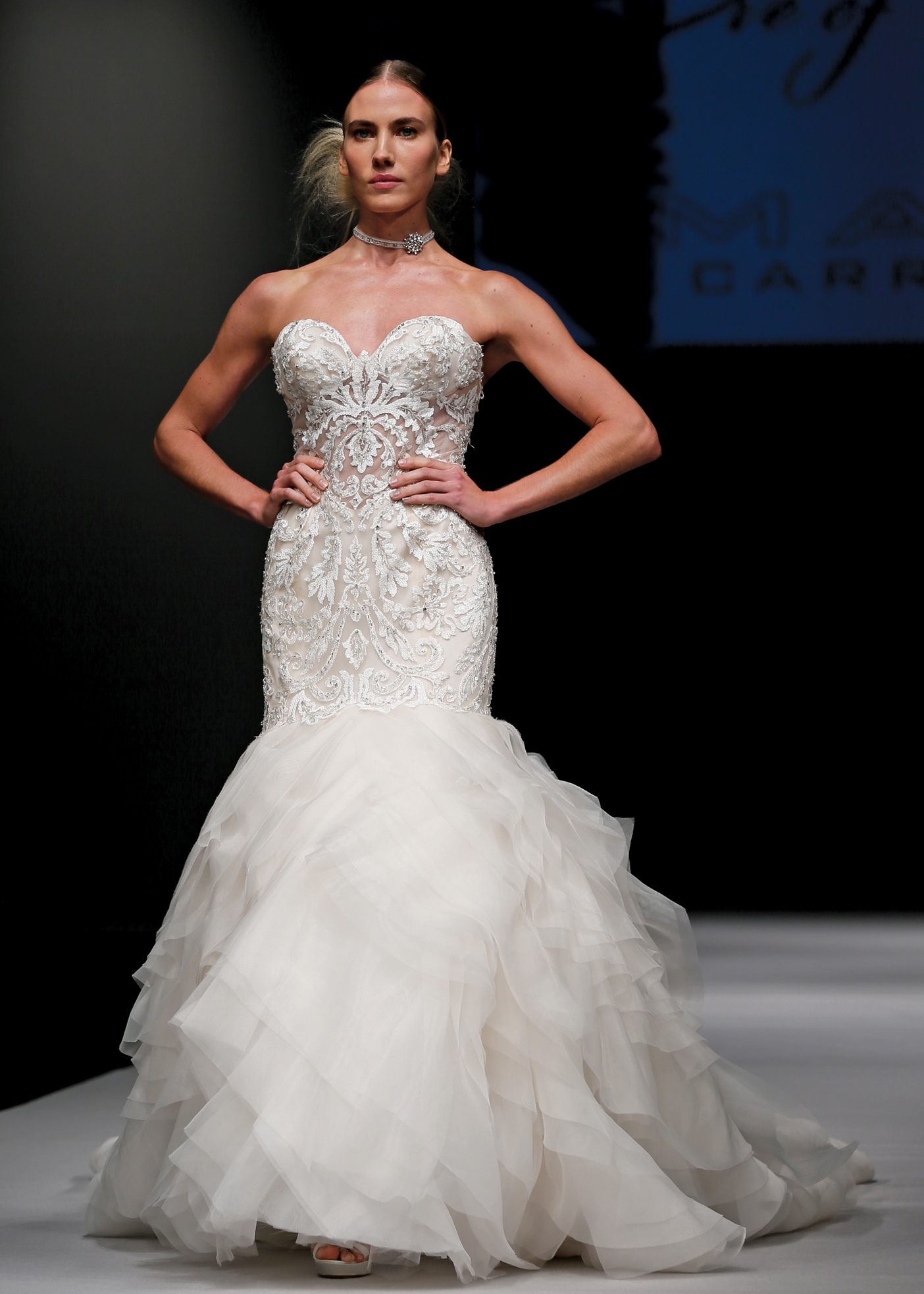 d7527a913fce Eve of Milady Princess Strapless Trumpet Wedding Gown