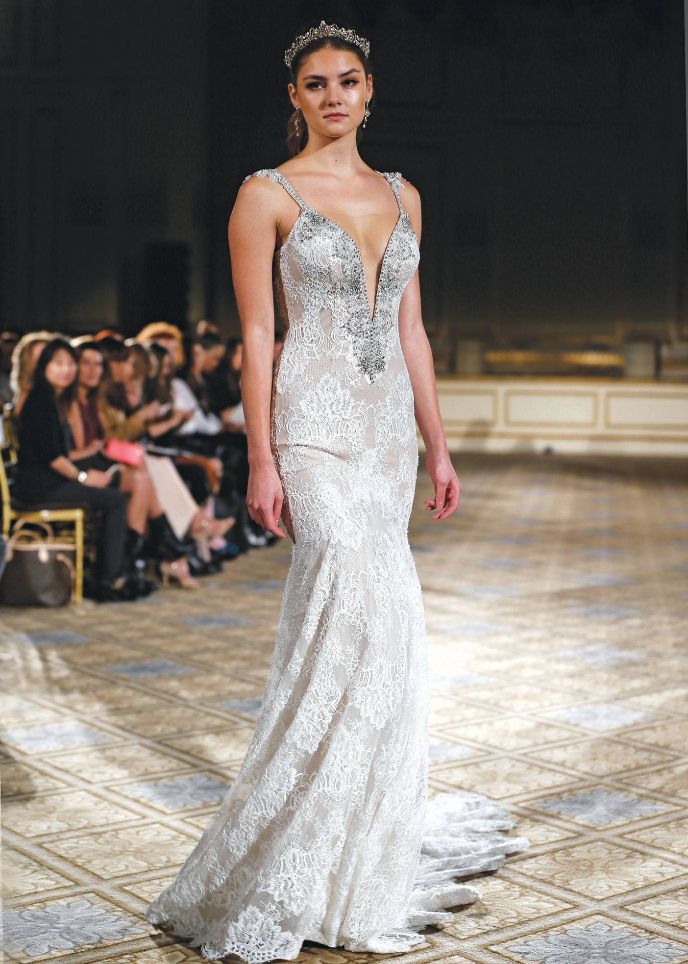 Berta Spaghetti Strap Fit-to-Flare Wedding Gown NY, NJ